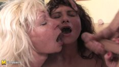 Old slut moms sharing one young cock