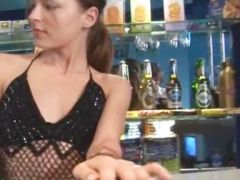 extra horny striptease on the bar