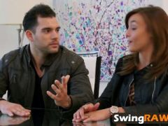 Amateur swingers having orgy in reality show