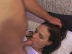 Girlfriend getting face fucked and facialized