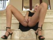Kristina splendid nakedblonde babe on the stairs movie