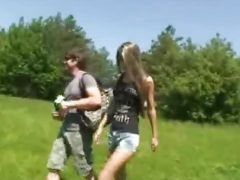 Busty teen gets drilled in the wilds