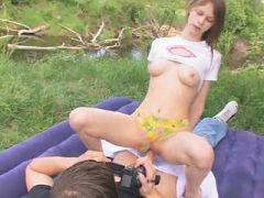 schoolmates sex in the forest