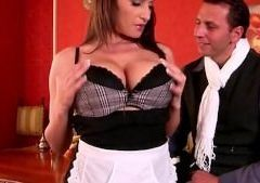 He fucks his maid on the table