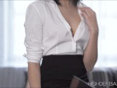 Brunette Sheris late time office fucking in cowgirl sex position