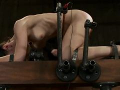 Elise Graves Hangs Upside Down And has Toyed And Nipple Tortured in pain Happiness