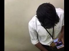 Tamil college boy in college toilet