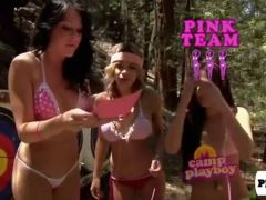 Sexy playboy bunnies at camp Playboy