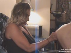 milf plays with nude male