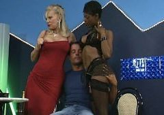 Sexy photo with two strippers