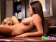 Old And Young Lesbian Fun In The Office