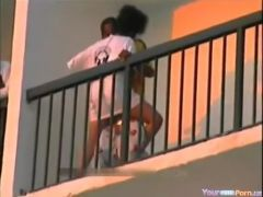 Ghetto whore copulates and talks with neighbour