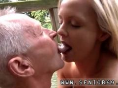 Old guy seduced and penetrated by friend and old black guy first time