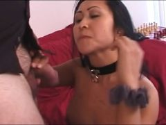 Oriental hooker fastened and facefucked