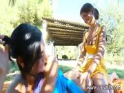 Massage and pussy licking in the grass