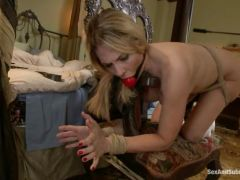 Angela Attison is gagged, spanked and fucked