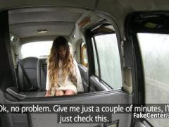 Stunning chick creampied in taxi