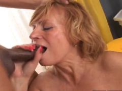 Aged Blonde Milf donna has Her Mouth made love