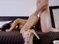 Horny babe Nikki Capone caught masturbating gets fucked by room mate