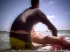 3 hot babes naked in the beach