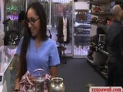 Babe In Glasses Fucked By The Pawn Man After Giving Her Undies
