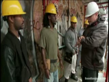 Construction workers Gang bang girl
