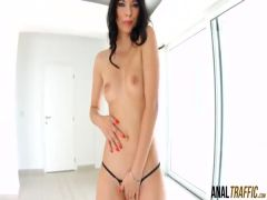 Kitty Lovedream mouth filled with cum after rough anal