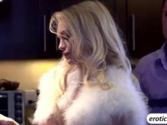Slender blonde babe Alex Grey fucked in the kitchen