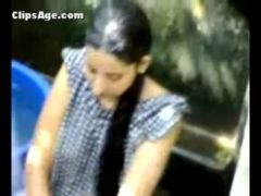 Cute desi neighbor girl caught nude taking bath