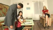 Threesome with student and teacher