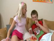 Blond from russia fucked hard