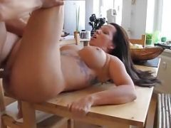 Tattooed Brunette With Smooth Tight Pussy
