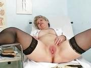 Busty Granny In Uniform Stretchi...
