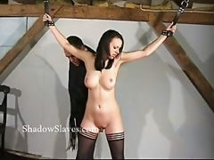 Hellpain Whipping Of Tied Emily Sharpe In Extreme Spanking And Humiliating Domination In The Old Dungeon