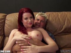 ImmoralLive REDHEAD BABE with BIG BOOBS fucked here!
