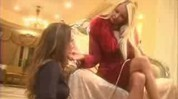 Glamour brunette and blonde lesbians doing it