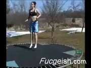 Girl Gets Naked And Gets Fucked On Trampoline Video