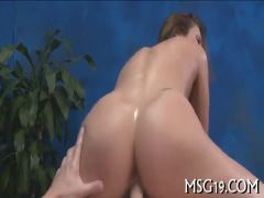 Tattooed girl moans with passion