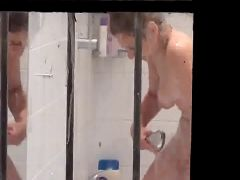 Neighbour caught naked in bathroom