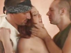 Hot wifey enjoys double penetration
