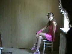 roksana the ballbuster in pink suit