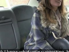 Tattooed Chick Sucked and Fucked In the Fake Taxi