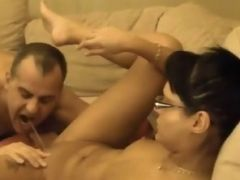 Pretty GF Squirts in Guys Mouth