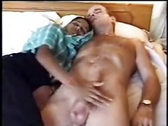 India Girl And White Cock