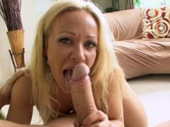 Gagging beauty with his cock