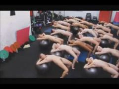 Sexy Naked Exercise Group Of Girls