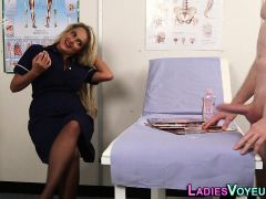 Busty Nurse Watches Loser