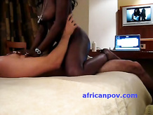 Zimbabwe ebony girlfriend chick Tania fucks in hotel room