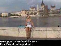 Nude in public - pussy flasher - no panties under short mini skirt film
