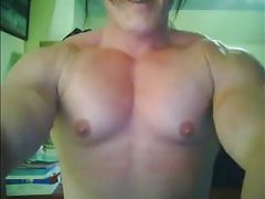 Muscled woman topless
